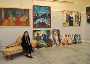 Visiting Edvard Munch's winter studio at Ekely, Oslo