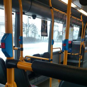 empty bus on a early sunday morning to studio U90