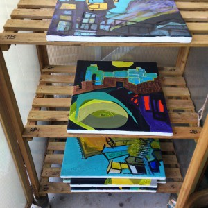 Drying paintings outside (c) artbyrekkebo
