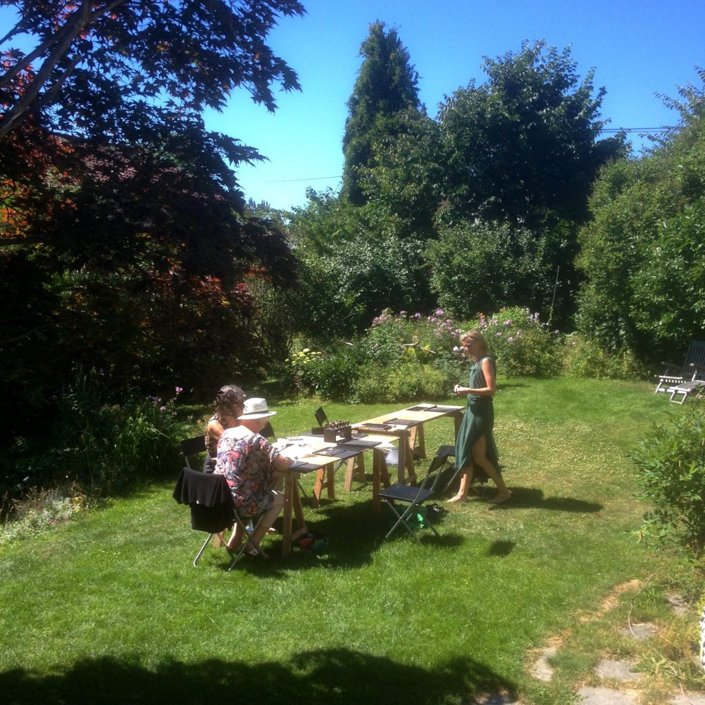 woodcuts in the garden